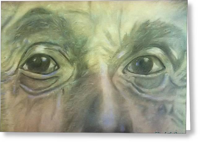 Eyes Of The Brain Greeting Card by Elizabeth Coats