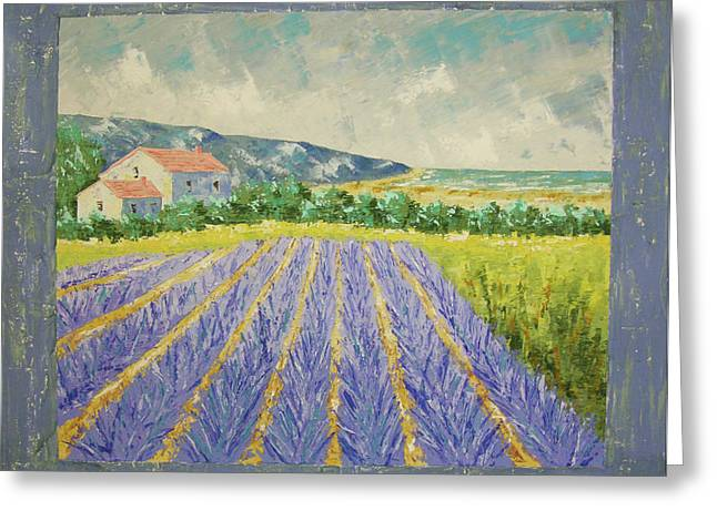 Eze Lavender South Of France Greeting Card