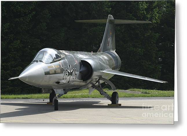F-104g Starfighter Of The German Air Greeting Card by Timm Ziegenthaler