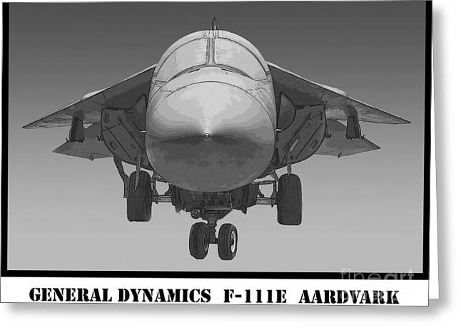 F-111e Aardvark Drawing Greeting Card