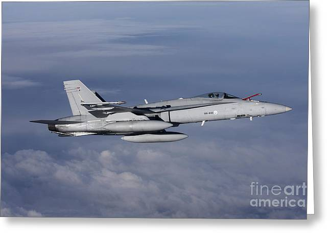 F-18 Hornet Of The Finnish Air Force Greeting Card by Daniel Karlsson