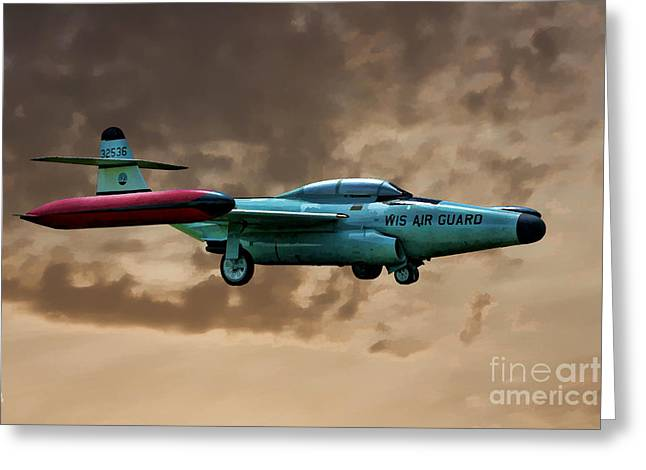 F-89 Scorpion Greeting Card by Tommy Anderson