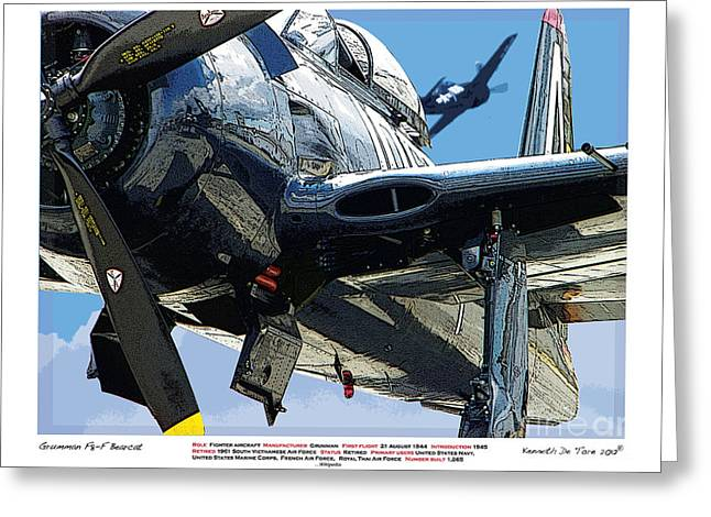 F8-f Bearcat Greeting Card