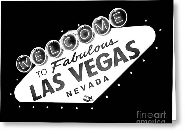 Fabulous Las Vegas Greeting Card by Kate McKenna