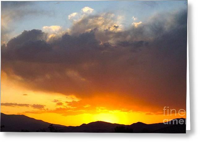 Fabulous Sunset Greeting Card by Phyllis Kaltenbach