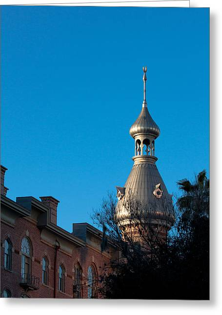 Greeting Card featuring the photograph Facade And Minaret by Ed Gleichman