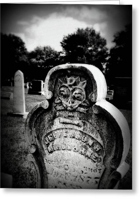 Face In The Grave Greeting Card