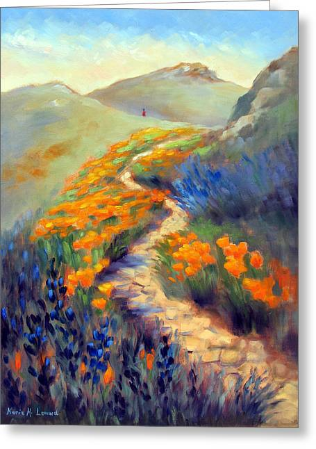 Face Of Soberanes Canyon Greeting Card by Karin  Leonard