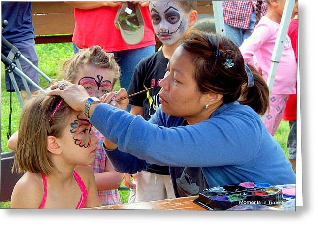 Face Painting 2010 Greeting Card by Glenn McCurdy