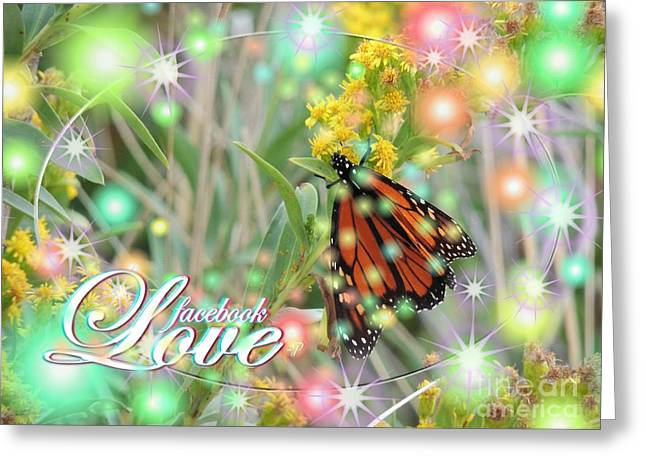 Facebook Love Greeting Card by Laurence Oliver