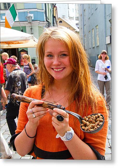 Faces Of Tallinn Estonia Greeting Card