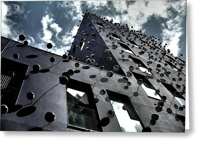 Fachada Con Los Ojos - Barcelona Greeting Card by Juergen Weiss
