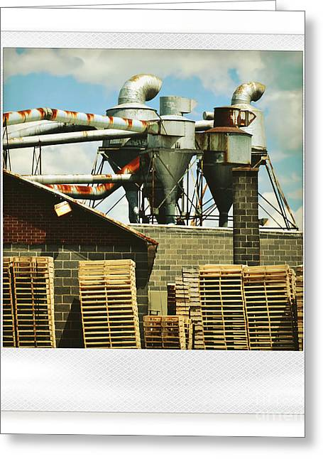Factory Greeting Card by HD Connelly