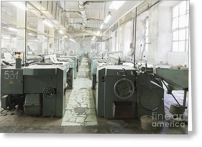 Factory Looms Greeting Card by Magomed Magomedagaev