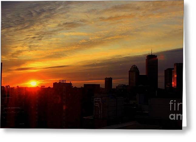 Fading Day Boston Greeting Card