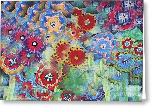Fading Flower Power Greeting Card by Marilyn West