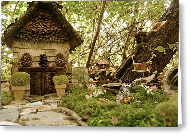 Faerie Garden Greeting Card by Azthet Photography
