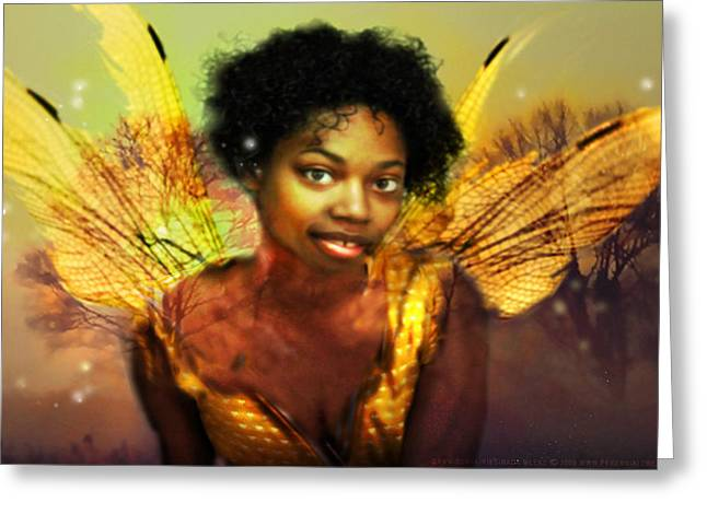 Greeting Card featuring the digital art Faery Dawn by Nada Meeks