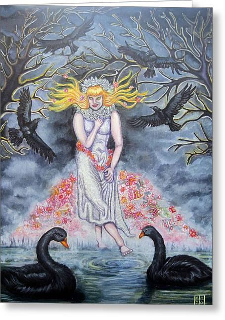 Fair Maiden Greeting Card by Amiee Johnson