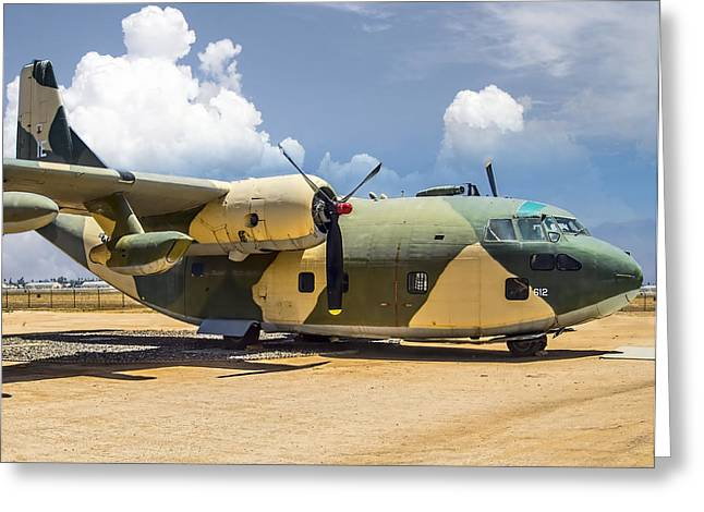 Fairchild C-123  Greeting Card by Steve Benefiel