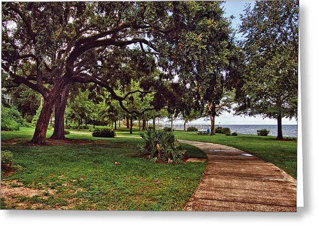 Fairhope Lower Park 2 Greeting Card by Michael Thomas