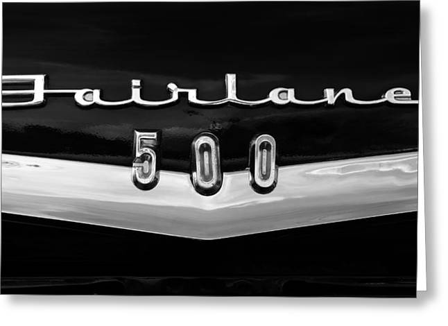 Fairlane Five Hundred Greeting Card