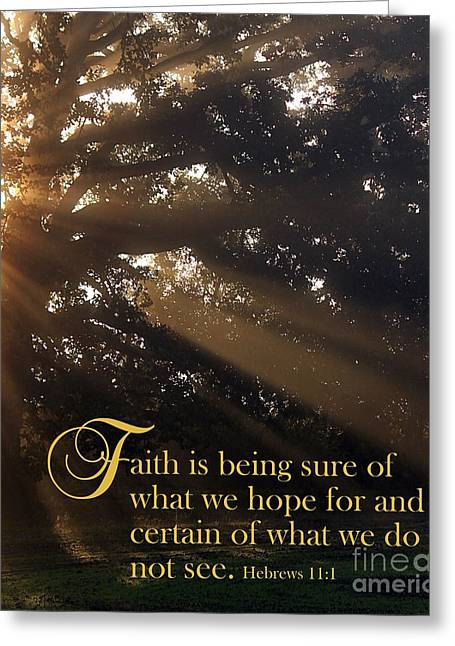 Faith Is Greeting Card