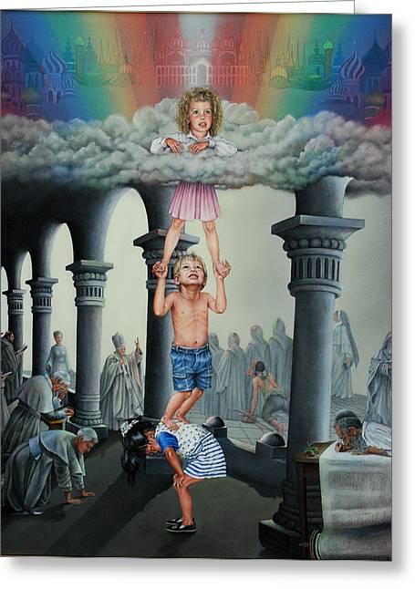 Faith Like A Child Greeting Card by Ruth Gee