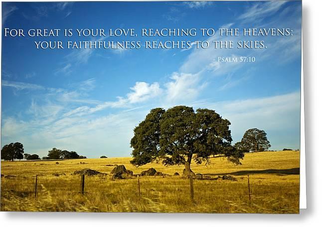 Faithfulness Greeting Card by Bonnie Bruno