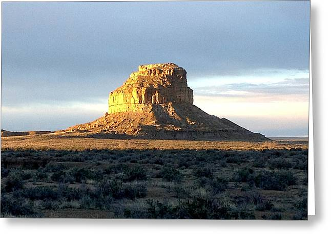 Fajada Butte At Dawn Greeting Card by Feva  Fotos