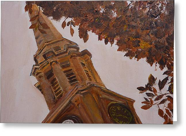 Falkirk Steeple Greeting Card by Margaret Denholm