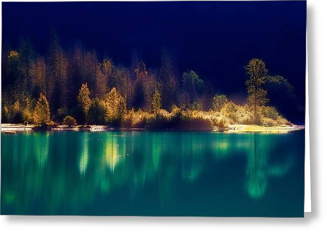 Fall Along The Lake Greeting Card by Thomas Born