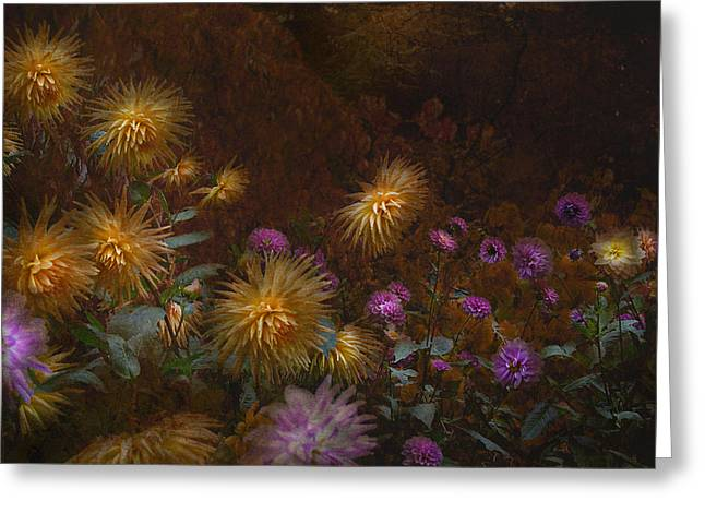 fall at Butchart Gardens Vancouver Island Greeting Card by Jeff Burgess