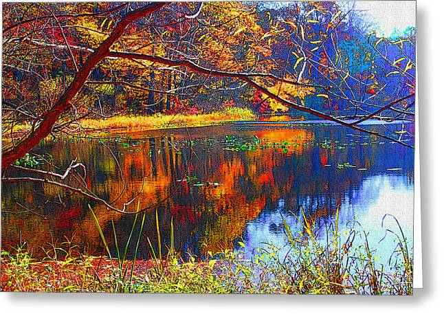Fall At Surprise Lake Greeting Card by Michael Dantuono