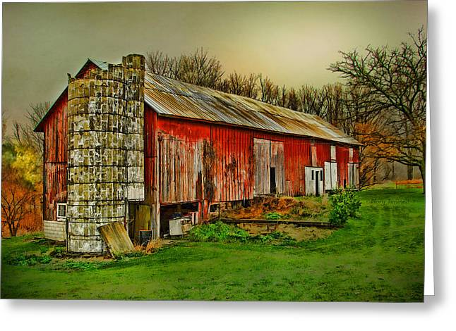 Greeting Card featuring the photograph Fall Barn by Mary Timman