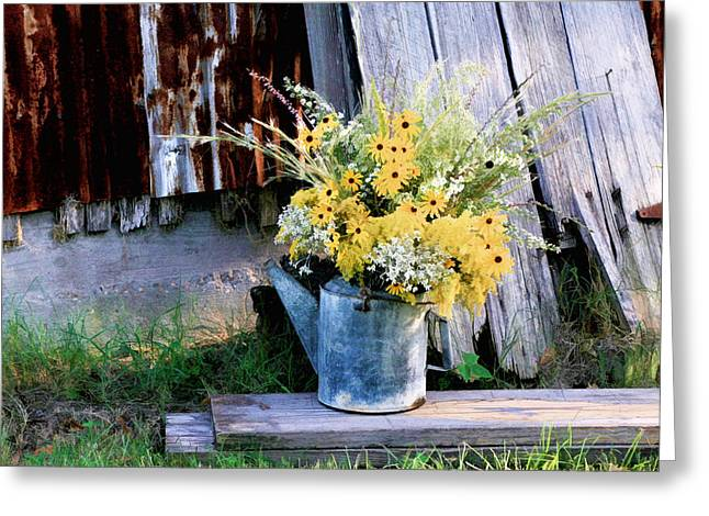 Fall Bouquet Greeting Card by Mary Hershberger