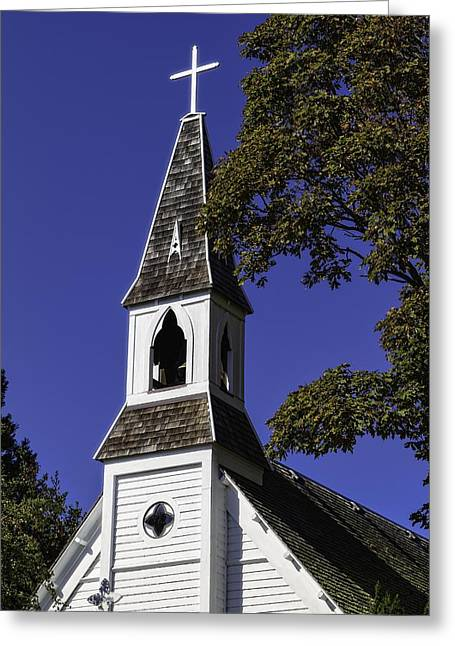 Fall Chapel Greeting Card by Ken Stanback