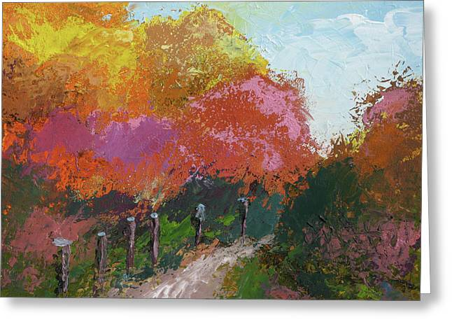 Fall Color Greeting Card by Robert Bissett