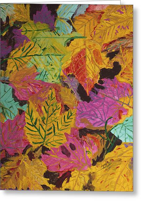 Fall Colors Of Maple Leaves Greeting Card