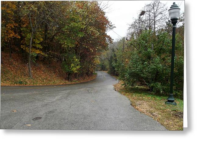 Fall Country Lane Greeting Card by CGHepburn Scenic Photos