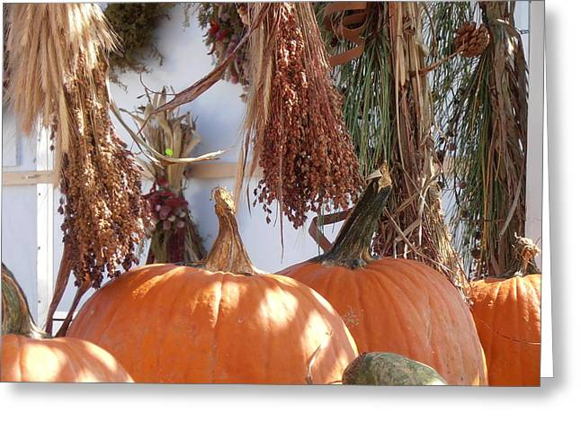 Fall Farm Stand Greeting Card by Kimberly Perry