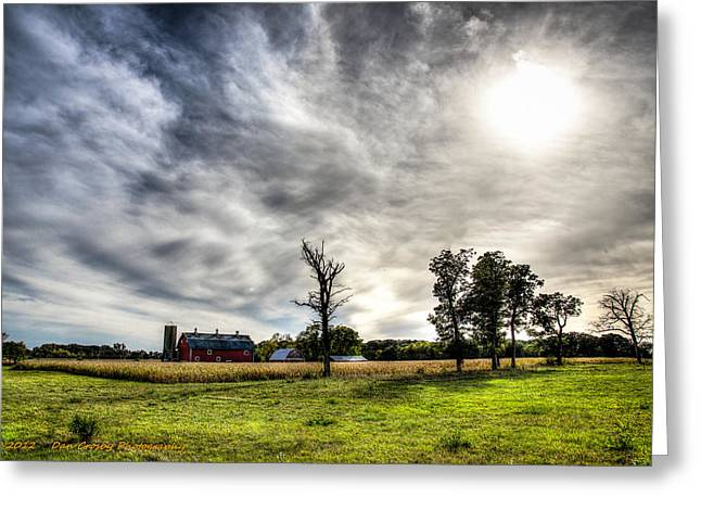 Fall Farm View Greeting Card by Dan Crosby