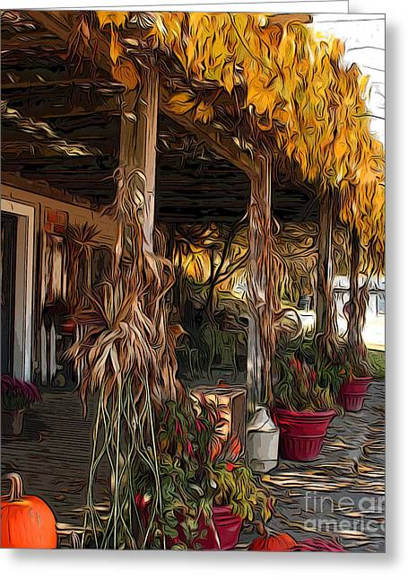 Greeting Card featuring the photograph Fall Farmers Market by Anne Raczkowski