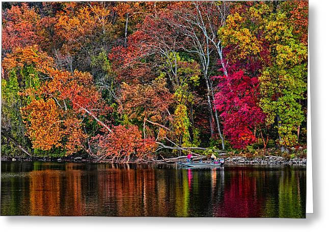 Fall Fishing Greeting Card by Boyd Alexander