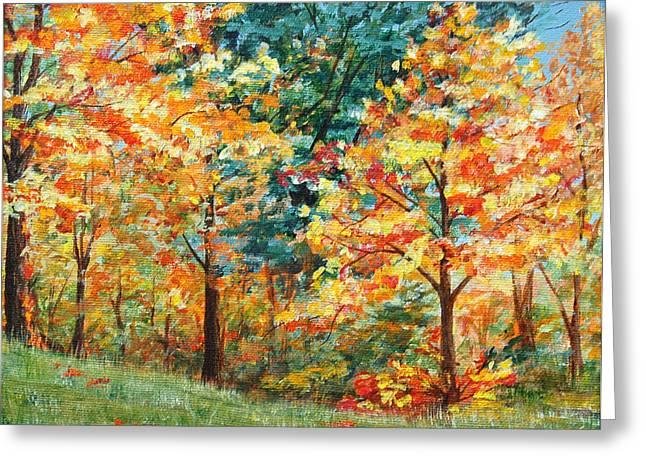 Fall Foliage Greeting Card by AnnaJo Vahle