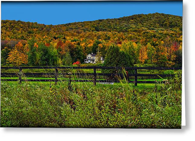 Fall Glory On The Other Side Of The Fence Greeting Card by Chantal PhotoPix