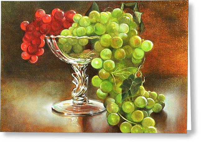 Fall Grapes Greeting Card by Cynthia Peterson