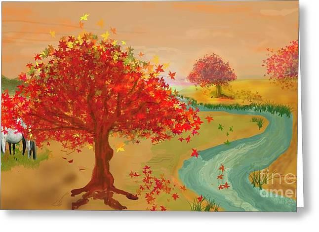 Fall Grazing Greeting Card
