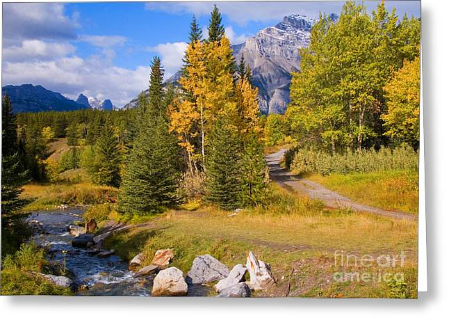 Greeting Card featuring the photograph Fall In Banff National Park by Bob and Nancy Kendrick