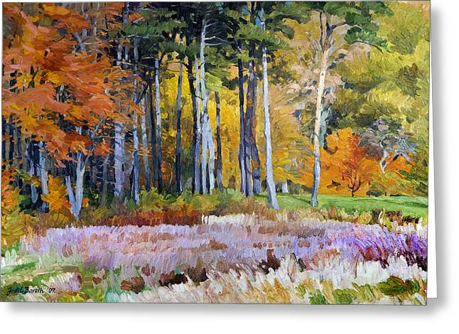 Fall In The Arboretum Greeting Card